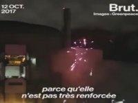 Greenpeace'in Nükleer Santralde Havai Fişek Patlatması
