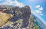 Almanya'daki Nebelhorn Zirvesinin Kartalla Görüntülenmesi