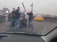 Rusya 3. Geleneksel Beyzbol Sopalı Çekiçli Trafik Kavgası