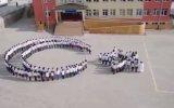 Yozgatlı Öğrencilerin Ay Yıldız Koreografisi