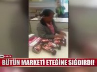 Bütün Marketi Eteğine Sığdıran Kadın Hırsız