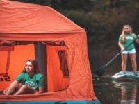 Yüzen Çadırla Kamp Yapmak