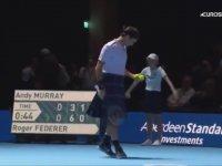 Roger Federer'in İskoç Eteği Giyerek Maç Yapması