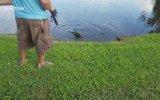 Balıkçı Oltasına Timsah Takılması