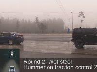 Hummer'ı Tokatlayan Tesla Model X Kapışması