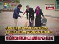 Görme Engelli Adama Temizlik Cezası - İstanbul