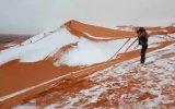 Sahra Çölüne Kar Yağması