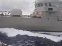 Yunan Hücumbotunun, Türk Sahil Güvenliğini Engellemeye Çalışması