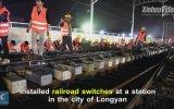 9 Saatte Demiryolu İnşa Etmek  Çin