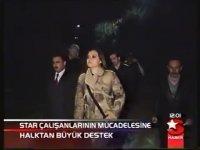 Star TV Çalışanlarının Mücadelesine Halktan Büyük Destek (14 Şubat 2004)