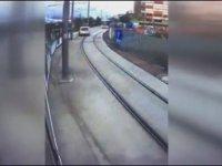 Tramvaya Makas Atan Sürücü