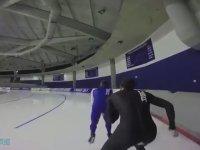 Buz Pateninde 55 Km Hız Yapmak