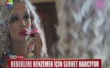 Servet Harcayarak Barbie Bebeklere Benzeyen Çek Kızı
