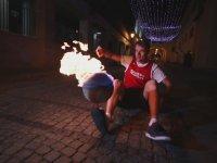 Görülmemiş Ateşli Basketbol Topu