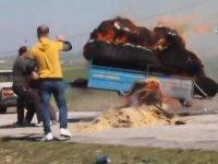 Trajikomik Yangın Söndürme Mücadelesi - Uşak