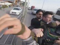 Servis Şoförünü Tekme Tokat Döven Motorcular