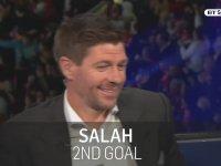 Gerrard'ın Salah'ın Roma Karşısındaki Gollerine Tepkisi