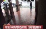 Polislerin Kovaladığı Zanlıyı Tek Çelmeyle Durduran Adam