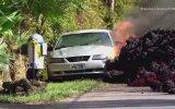 Kilauea Yanardağı'ndan Çıkan Lavların Otomobili Yutması