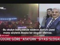 İzmir Atatürk Lisesi Müdürünün İzmir Marşı'nı Sabote Etmesi