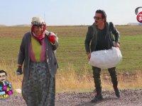 İngiliz Taklidi Yapan Muhabire Patates Taşıttıran Teyze