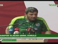 Bursaspor Tribün Liderinden Kongreyi Karıştıran Sözler