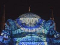 Sultan Ahmet Camii - Video Mapping Gösterisinin Yapılması
