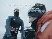 Kolombiyalı Sporcunun Buzuldan Suya Atlaması
