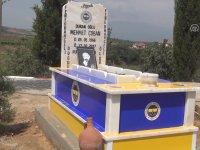 Vasiyet Üzerine Fenerbahçe Renklerine Boyanan Mezar