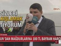Tosunun Mağdurlarına 100'er Lira Yollaması