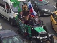 Trafikte Seyreden Ayı - Rusya