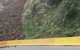 Yeni Zelanda'da Sürücünün Önüne Kayan Toprak