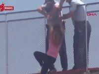 İntihar Eden Kadını Havada Yakalayan Polis