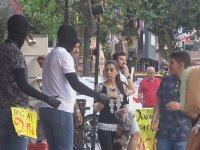 Adana'da Cansız Manken Şakası