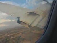 Havada Motoru Yanmaya Başlayan Uçağın Düşmesi