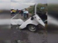Kızılcahamam'daki Kazada İkiye Bölünen Şahin