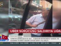 Uber Sürücüsünü Sopa ile Tehdit Eden Taksici