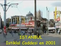 2001 Yılından İstiklal Caddesi Görüntüleri