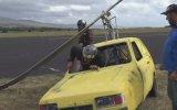 Arabaya Pervane Takıp Uçurtma Gibi Uçurmak