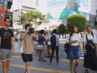 Dünyanın En Kalabalık Yaya Geçidi - Tokyo