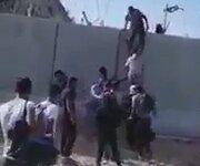Suriyelilerin Duvara Tırmanıp Türkiye'ye Girmesi