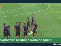 Neymar'dan Ronaldo Taklidi