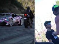 Kıl Payıyla Lamborghini'nin Gazabından Kurtulan Motosikletli