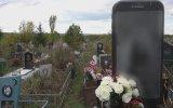 Mezar Taşının  iPhone Şeklinde Yapılması  Rusya