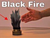 Şaşırtıcı Deney Gölge Ateş Deneyi Siyah Ateş