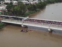 Guetamala - Meksika Sınırı Göçmen Akını