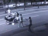 Sivil Polislere Takılan Motosikletli Gasp Girişimi