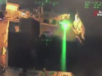 Polis Helikopterine Lazer Tutan Manyak