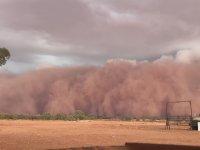 Timelapse Görüntüsüyle Toz Fırtınasının Gelişi