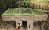 İlkel Teknolojiyle Üstü Havuzlu Ev Yapan Adam